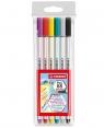 Flamastry Pen 68 brush - 6 kolorów
