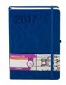 Kalendarz 2017 książkowy A5 z gumką Formalizm niebieski
