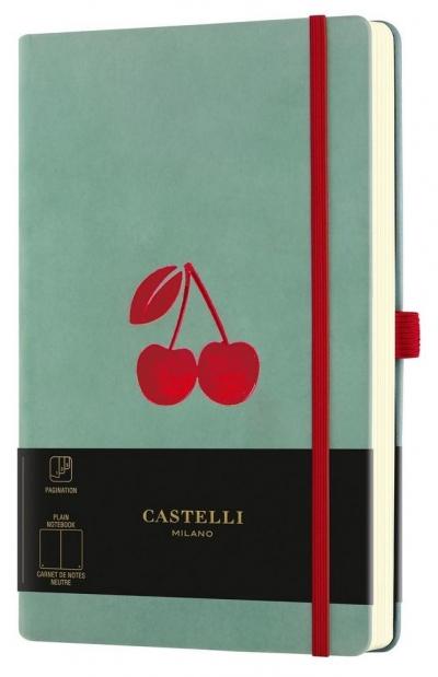 Notatnik 13x21cm gładki Castelli Velluto Cherry