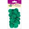 Pompony akrylowe, 24 szt. - zielone (361616)