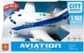 Samolot pasażerski ze światłem i dźwiękiem