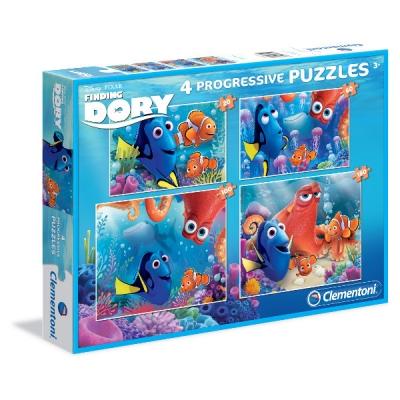 Puzzle 4w1 Gdzie jest Dory (07712)
