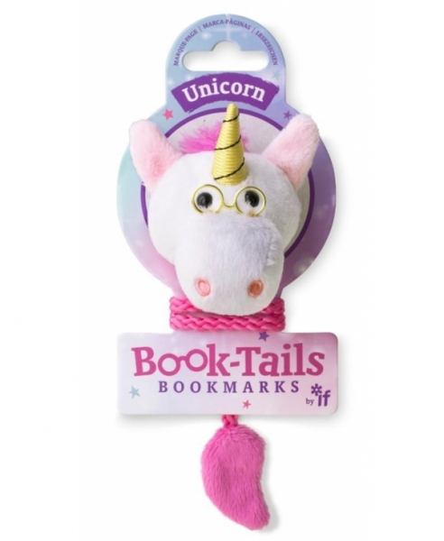 Book-Tails - Jednorożec pluszowa zakładka do książki