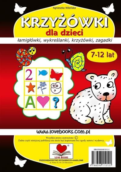 Krzyżówki dla dzieci 7-12 lat Agnieszka Wileńska