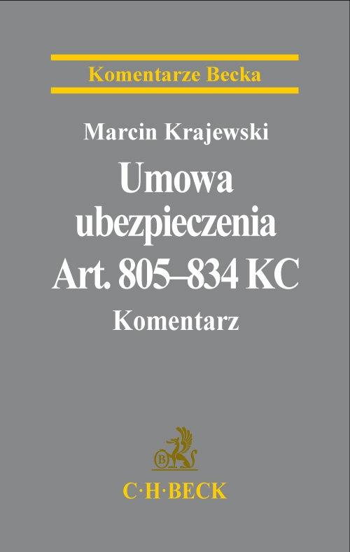 Umowa ubezpieczenia Komentarz Krajewski Marcin