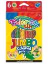 Colorino kredki ołówkowe Jumbo 6 kolorów + temperówka (33121PTR)