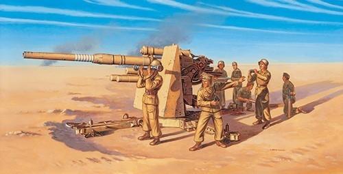ITALERI 8.8cm Flak 37 AA Gun w/ 8 crew
