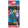 Kredki Color'Peps Monster w czarnej obudowie, trójkątne (MPD-862612)