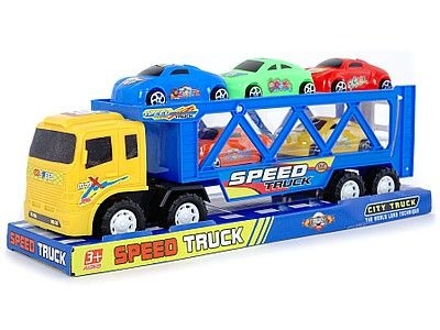 Ciężarówka Adar z lawetą i 5 autami, napęd na koło zam (519121)