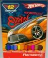 Flamastry Hot Wheels 12 kolorów