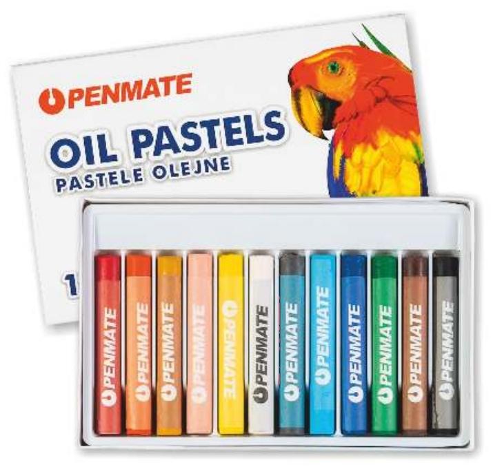 Pastele olejne 12 kolorów PENMATE