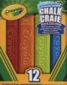 Niepyląca zmywalna kreda chodnikowa Crayola 12 kolorów