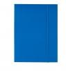 Teczka A4 kartonowa z gumką niebieska 300g D.RECT