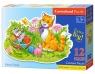 Puzzle maxi konturowe: Kitten Family 12 elementów (120123)