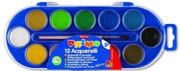 Farby wodne w pastylkach 12 kolorów + pędzelek