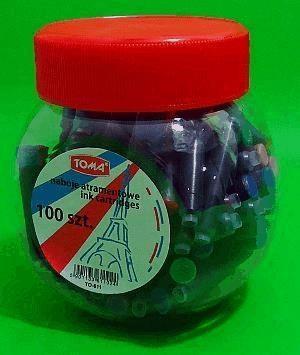 Naboje do piór niebieskie 100szt TOMA