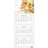 Kalendarz 2022 trójdzielny 82,5x34cm - Smacznego