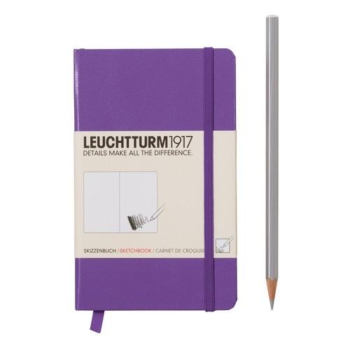 Szkicownik Pocket Leuchtturm1917 gładki fioletowy 344656
