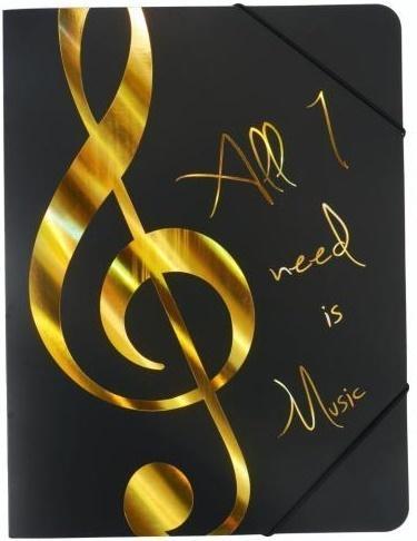 Teczka - All I Need Is Music - złota