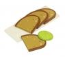 Drewniane kromki chleba