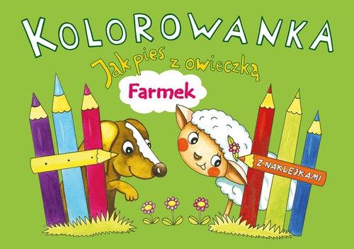 Kolorowanka Jak pies z owieczką Farmek Karczmarska-Strzebońska Alicja