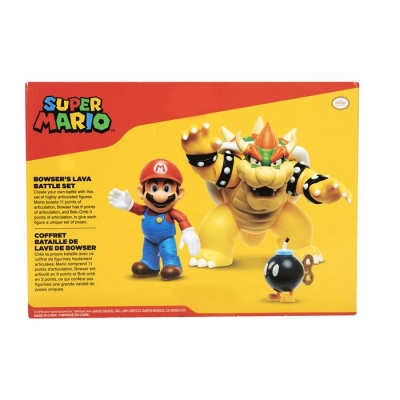 Super Mario Zestaw Lava Battle  Mario vs. Bowser Diorama S1 - Dostępność 2/04