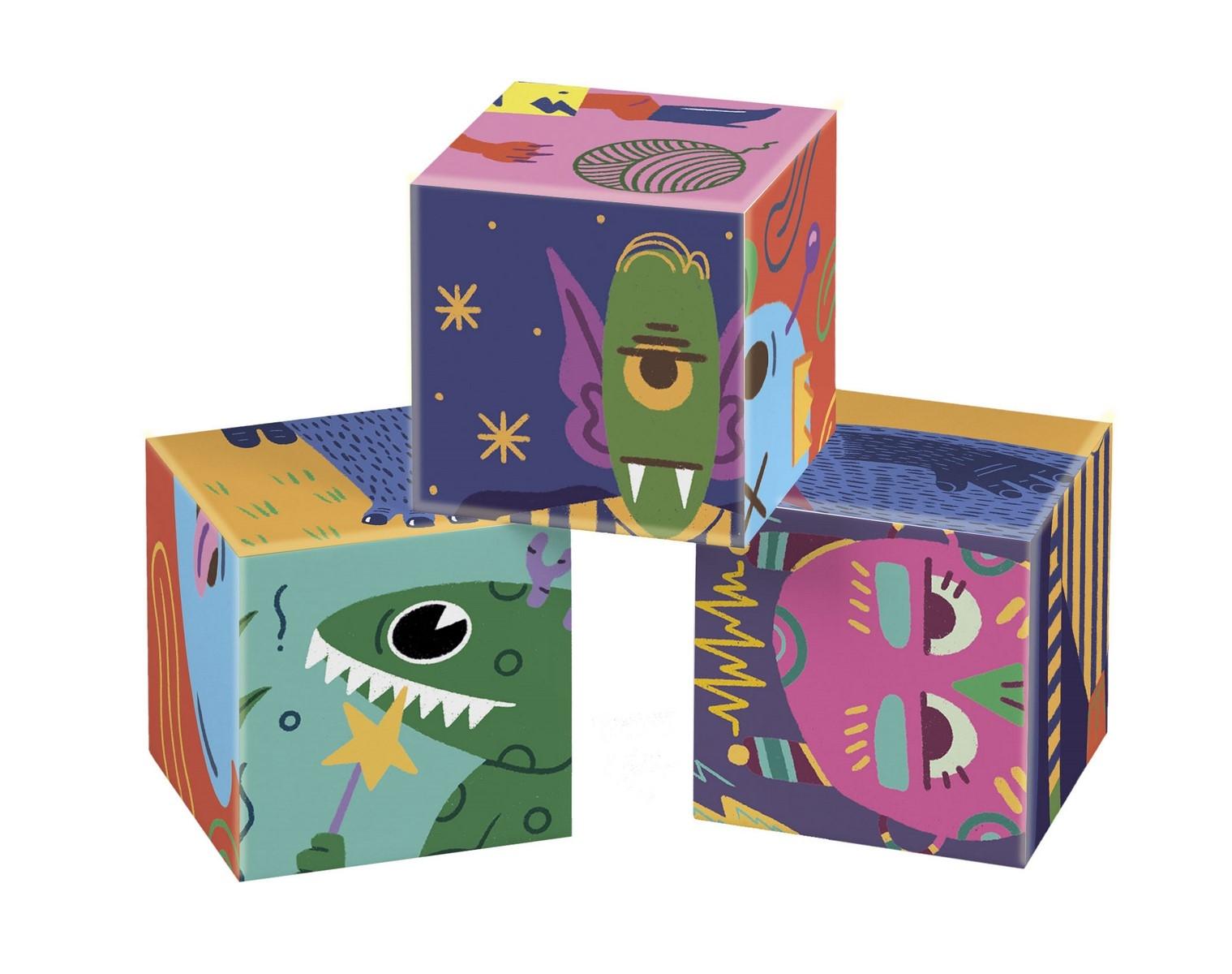 Puzzle Kostki - Potworki (44005)