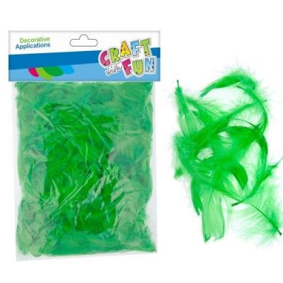 Piórka Euro-Trade dekoracyjne zielone 20-30cm 16g zielone (463678)