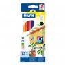 Kredki ołówkowe Milan 211 sześciokątne 12 kolorów w kartonowym opakowaniu (80012)