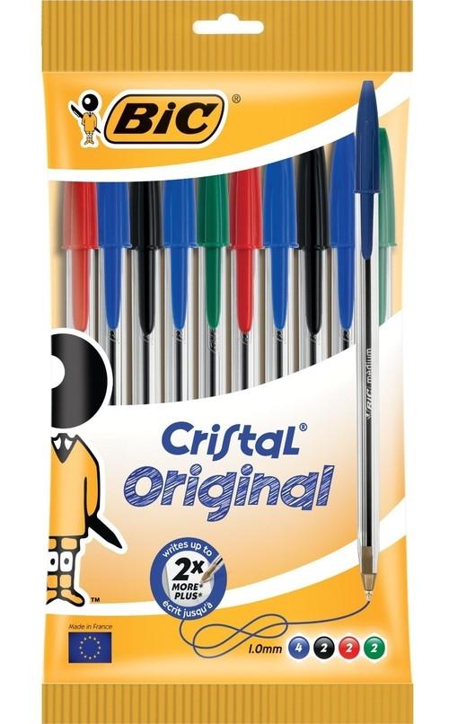 Długopis Cristal Original mix kolorów 10 sztuk