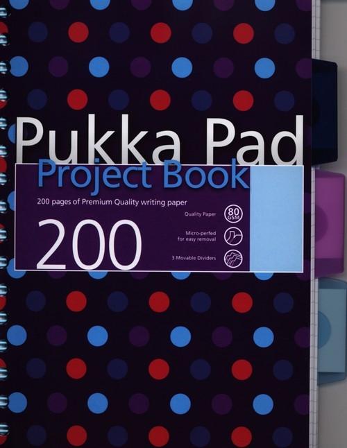 Kołozeszyt A5 Pukka Pad Dots w kratkę 200 stron niebieski