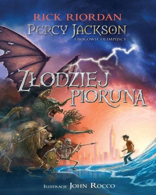 Percy Jackson i bogowie olimpijscy Złodziej Pioruna Riordan Rick