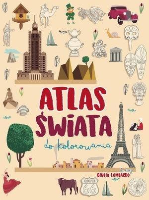 Atlas świata do kolorowania (Uszkodzona okładka) Giulia Lombardo (ilustr.)
