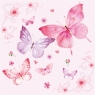 Serwetka GENTLE BUTTERFLIES rosa