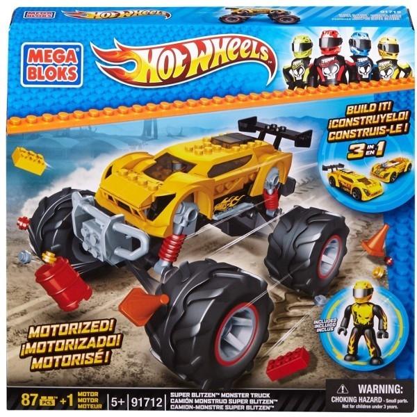 MEGA BLOKS Hot Wheels Monster Żółty