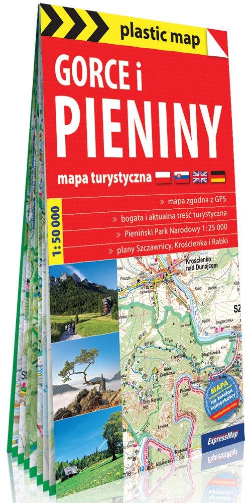 Gorce i Pieniny foliowana mapa turystyczna 1:50 000