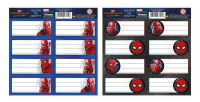 Nalepki na zeszyty Spider-Man 13 (50szt) DERFORM