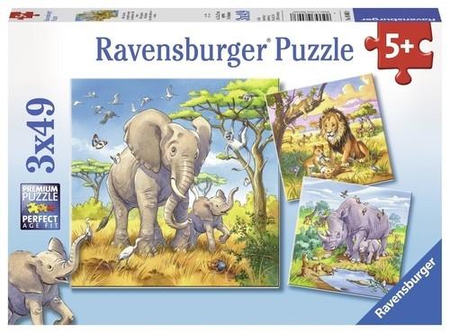 Puzzle Dzikie zwierzęta 3x49