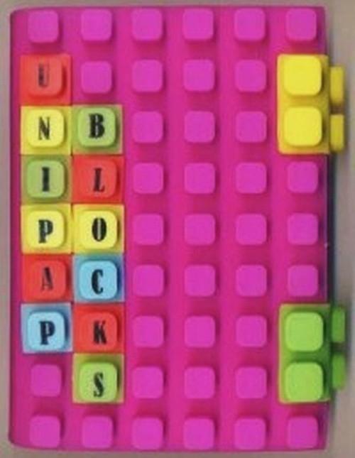 Notes silikonowy A6 Unipap Blocks w kratkę 100 kartek fioletowy