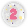 "Balon 45 cm - ""Cyfra 2"" różowy (TB 3612)"
