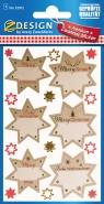 Naklejki świąteczne - Gwiazdy na życzenia