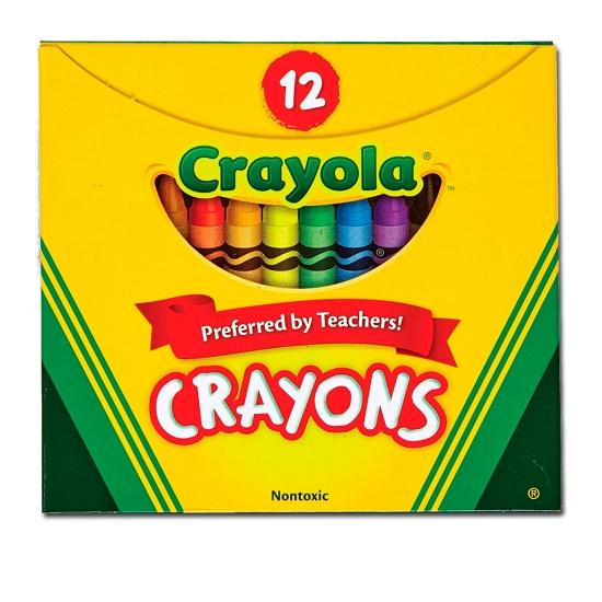 Kredki świecowe Crayola, 12 kolorów (0012)