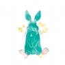 Karnet Swarovski kwadrat Niebieski królik
