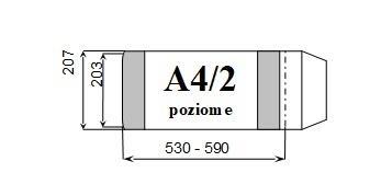 Okładka książkowa regulowana A4/2 poz. (10szt) D&D