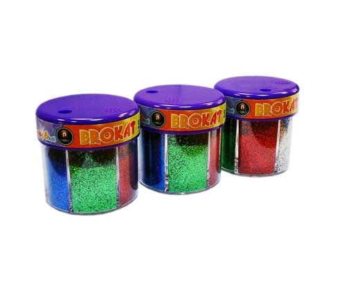 Brokat sypki 50 g Komplet 6 kolorów