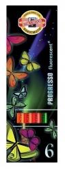 Kredki Progresso fluorescencyjne 6 kolorów
