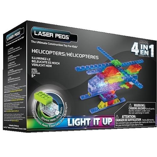Klocki Laser Pegs 4w1 helikopter świecące (MPS400B)