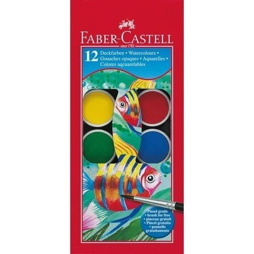 Farby akwarelowe Rybka 12 kolorów (125012)