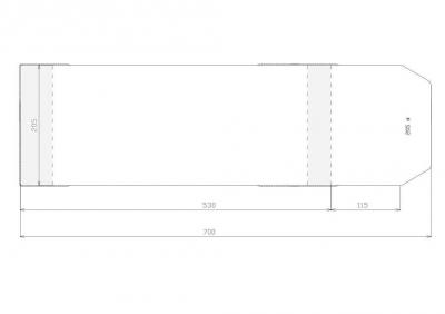 Okładka długa regulowana (205 x 700) (25 sztuk) .