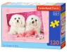 Puzzle Two doggies in Pink 120 elementów (13128)
